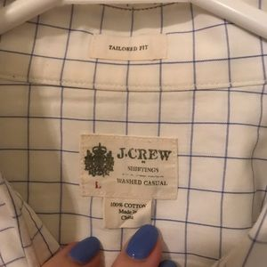 J.Crew Tailored Fit Botton Down Sz. Large